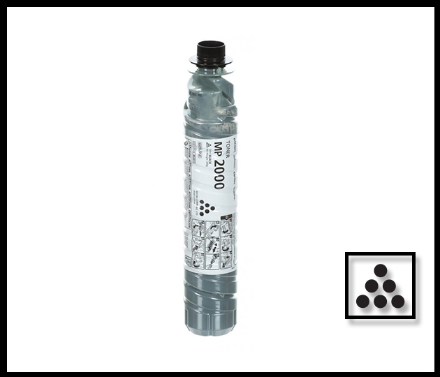 RICOH MP2000 BLACK TONER BOTTLE